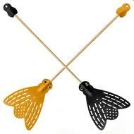 yellow and black fly swatters
