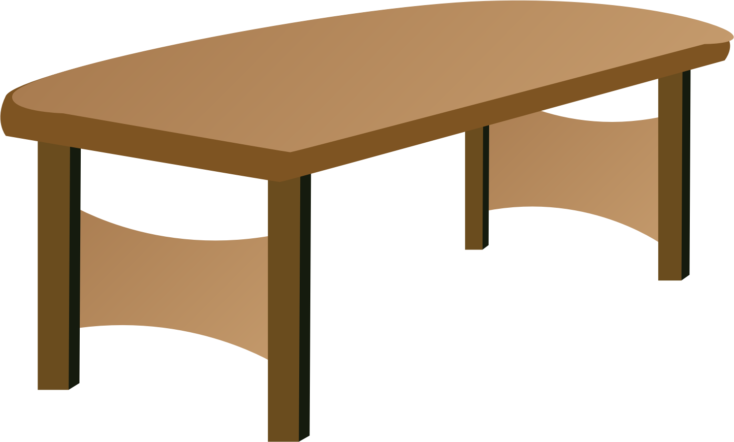 Bright Brown Table Clipart Free Image