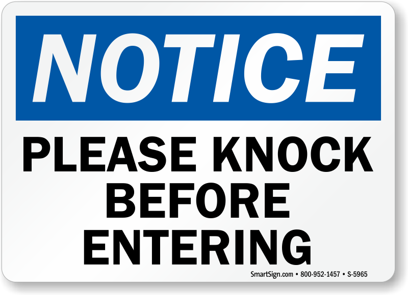 photograph relating to Please Knock Sign Printable referred to as Be sure to Knock Prior to Moving into Printable Signal totally free picture