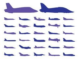 Airplane Silhouette Clip Art drawing