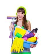 Related Cleaning Lady Vector Services