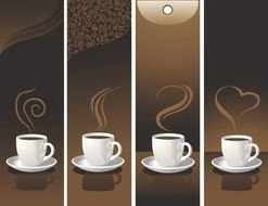 variety of coffee cups as a picture for clipart