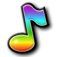 Rainbow Music Notes Clip Art N2