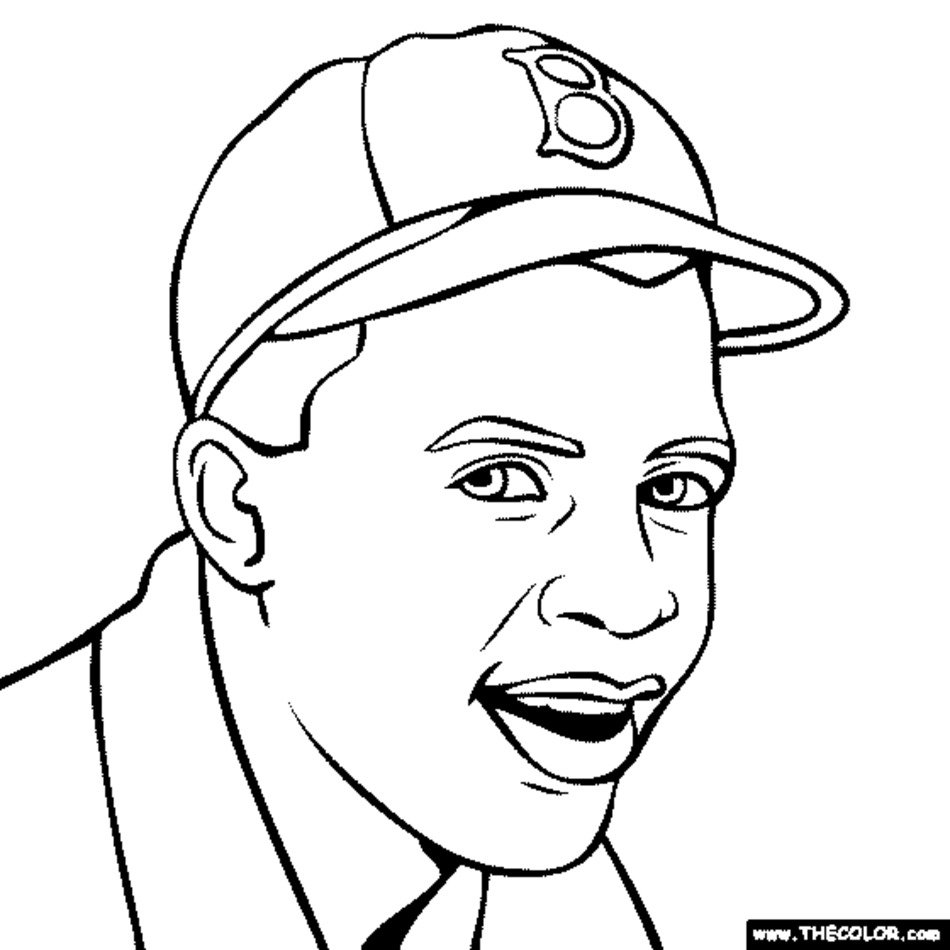 Jackie Robinson Coloring Page free image