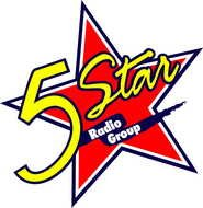 5 stars radio group as graphic illustration