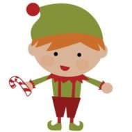 Cute small Christmas Elf drawing