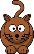 Cartoon brown Cat Clipart