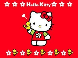 Hello Kitty red darwing