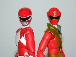 two costumes of Power Rangers