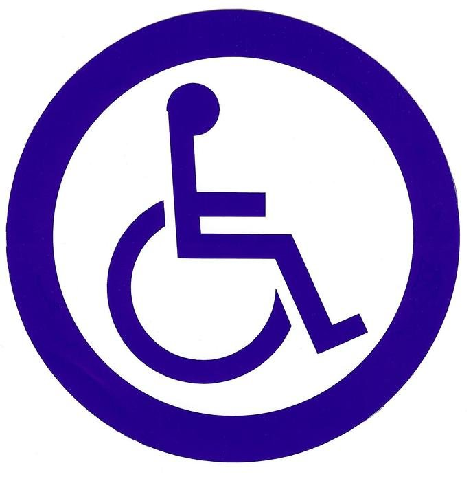 icon with wheelchair symbol
