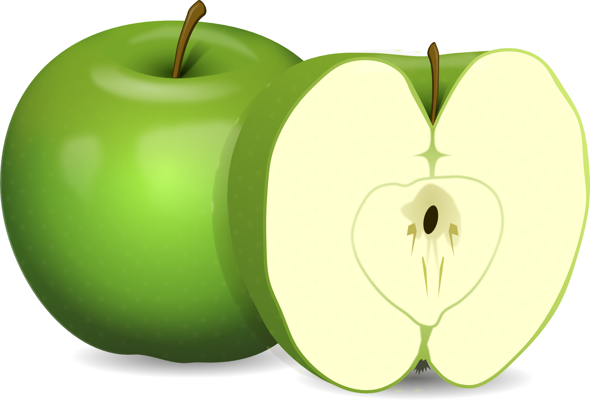 Apples banana sexual symbal on white stock photo