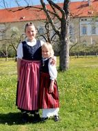 children in traditional costumes in bavaria
