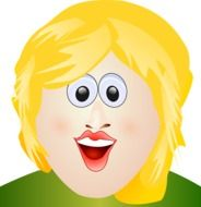 funny blonde as graphic illustration