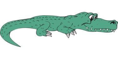 alligator as a graphic image