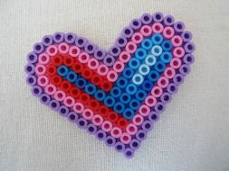 Colorful heart for mother\'s day