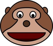 funny monkey's face as a graphic image