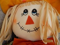 cute face toy scarecrow