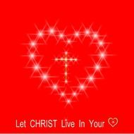 brilliant heart and the inscription Christ lives in you