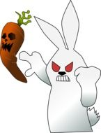 angry bunny and carrot drawing