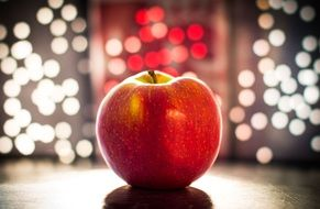 apple bokeh fruit night lights