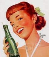 soda bottle old ads vintage model
