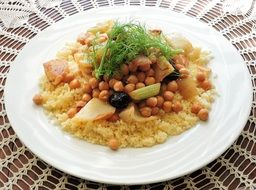couscous fennel chick peas olives