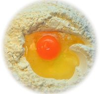 egg yolk flour dough ingredient