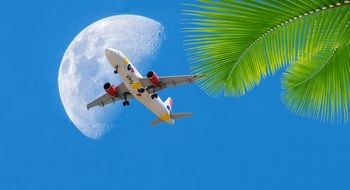 taking off plane in tropics