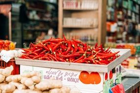 chili pepper hot spicy red basket