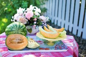 melons cantaloupe watermelon summer healthy food