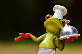 frog cooking dinner