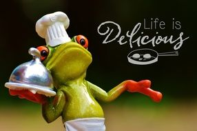 funny frog symbolizing cooking