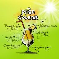 pina colada cocktail drink alcohol