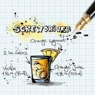 screwdriver cocktail drink alcohol