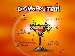 cosmopolitan alcohol cocktail drink