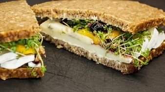 sandwich bread cheese camembert fresh cress
