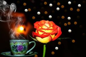 Rose and flavor Arabic coffee
