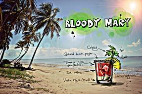 appearance and recipe of the coctail Bloody Mary