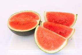 red juicy watermelon