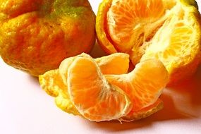 slices of ripe mandarin