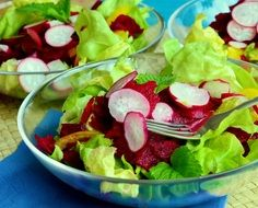 salad lettuce with beetroot