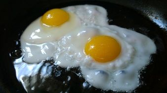 fried eggs breakfast