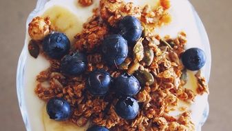 Photo of granola for the breakfast