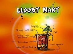 bloody mary cocktail drink