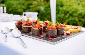 delicious chocolate strawberry desert
