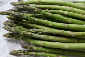 fresh asparagus green vegetables food
