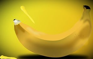 tube banana yellow healthy fruits