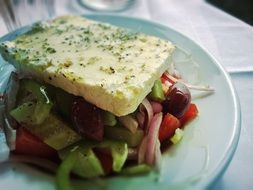 greek salad feta food