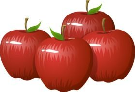 healthy red apples