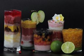 different fruit mix cocktails